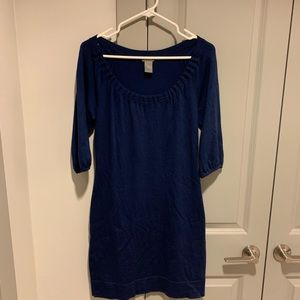 Ann Taylor blue sweater dress